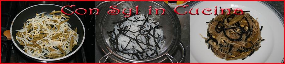 Spaghetti di soia con alghe hijiki